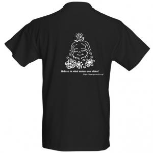 Black T-shirt - back