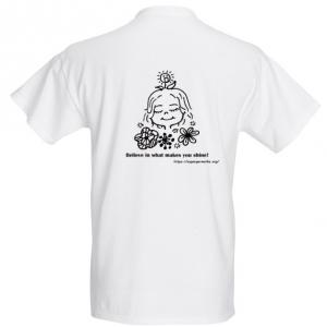 White T-shirt - back